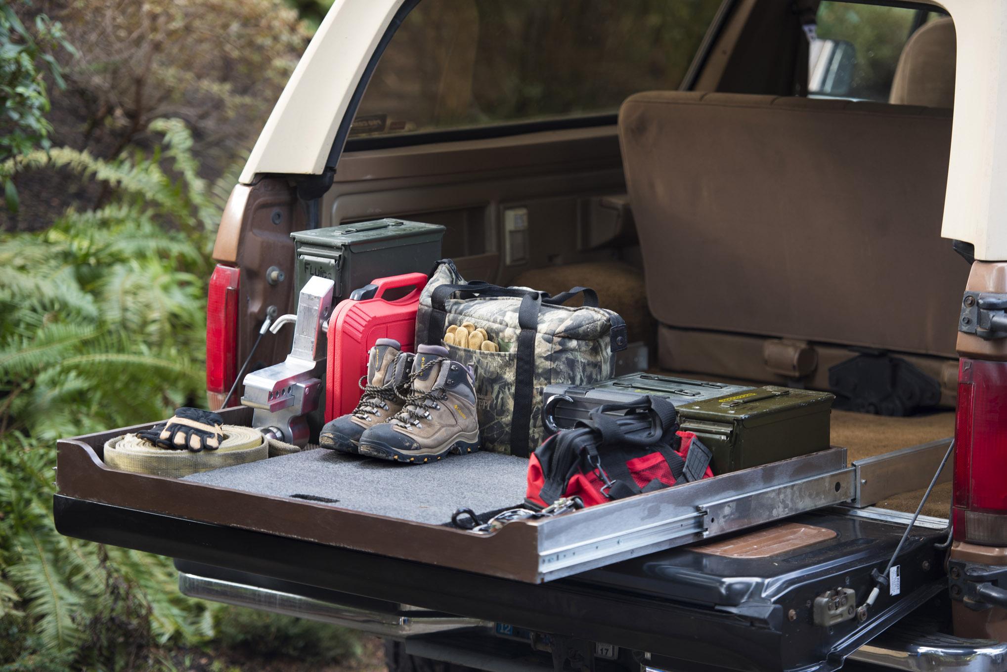 handy slider we build a diy sliding cargo storage tray for our 4x4 Jeep Grand Cherokee Rear Storage Box