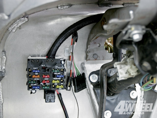 4 the fuse box would bolt directly in as a replacement to a cj fuse Jeep Liberty Fuse Box Location