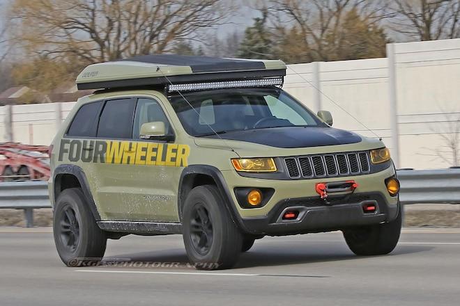 SPIED! Jeep Grand Cherokee Overlander in Auburn Hills!