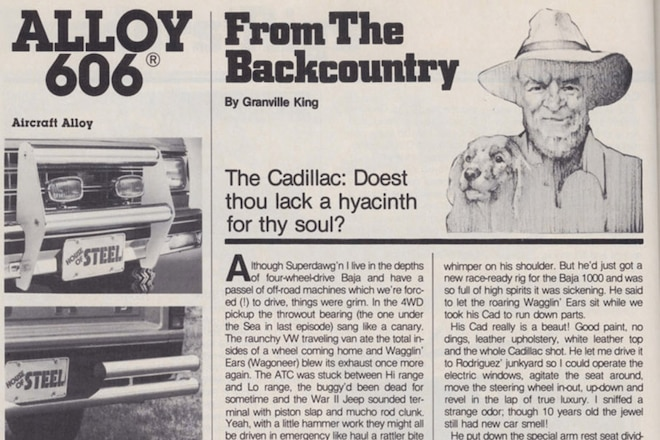 """Granville King's """"From The Back Country"""" July, 1984"""