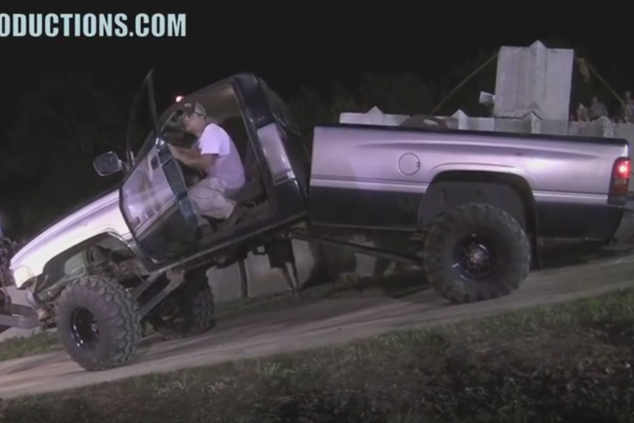 Cummins Powered Dodge Ram Bends In Half, Wins Tug-O-War