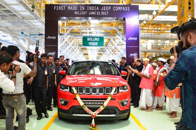 First India-Produced 2017 Jeep Compass Rolls Off Assembly Line