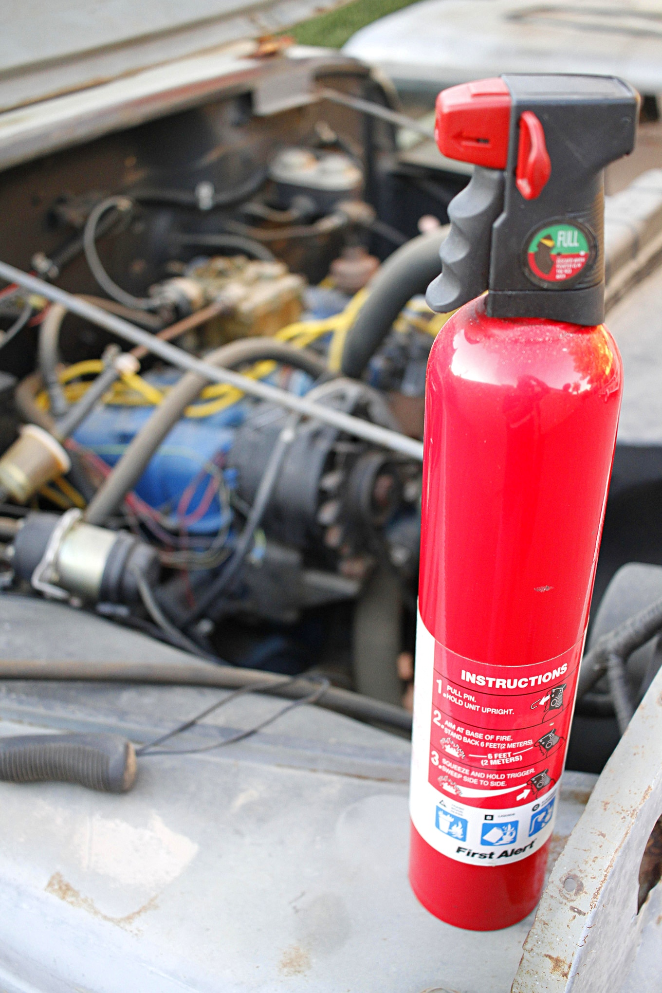 014 old engine startup fire extinguisher