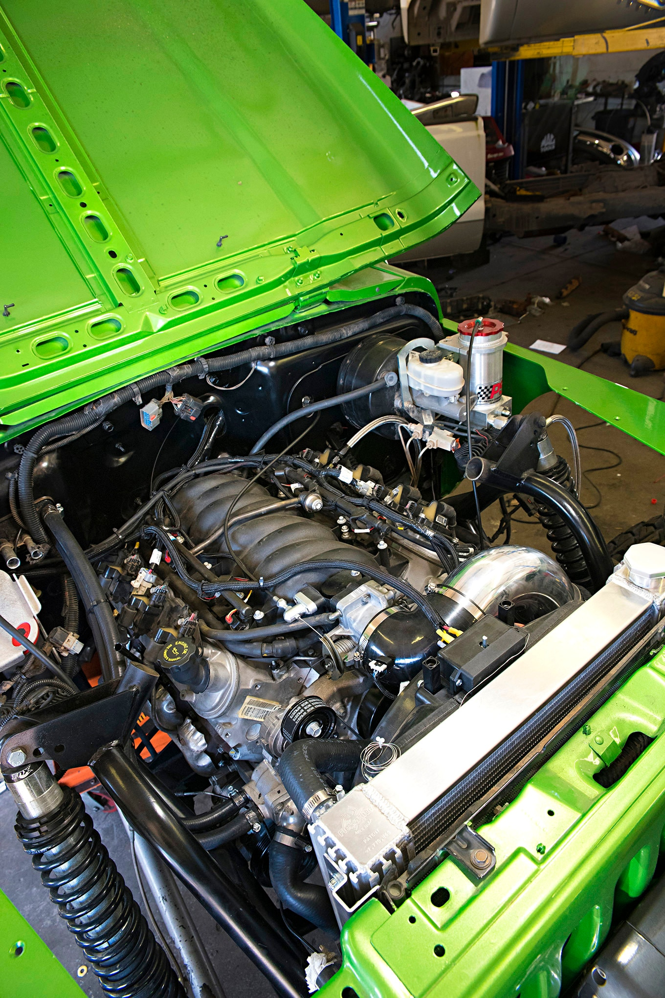 This LS1 looks a lot better sitting in our TJ than in the Camaro it was pulled out of a few months ago.