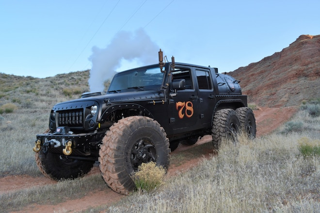 Loco Hauk Steam-Powered 6x6 Jeep JK Built by Kenny Hauk at 2017 Easter Jeep Safari in Moab