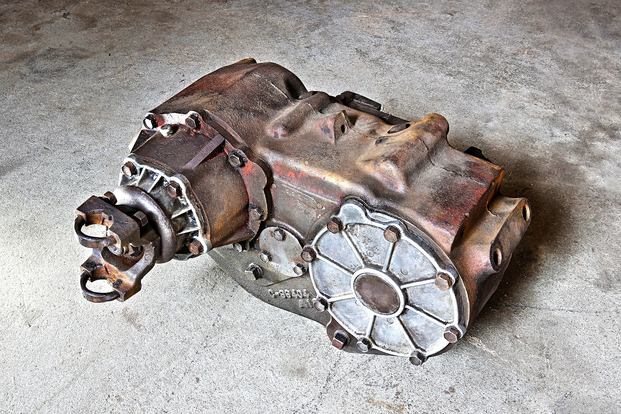 """Step one in this segment of B.O.B.'s driveline-strengthening program involved laying hands on a good, useable non-slip-yoke, figure-eight-pattern GM NP205 transfer case. In New England this isn't an especially difficult treasure hunt, and needing to """"know someone who knows someone"""" to locate one isn't a prerequisite—most trucks equipped with the 205 have long rusted out around their drivetrain parts."""