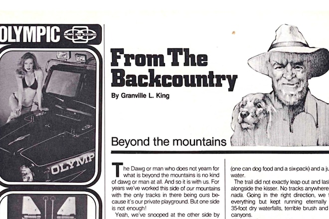 """Granville King's """"From The Back Country"""" April 1984"""