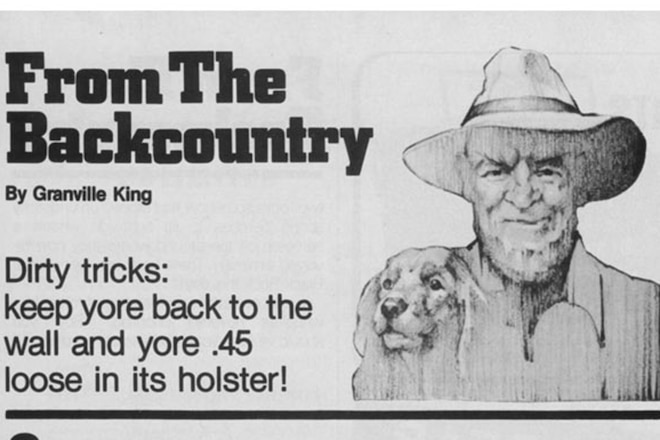 """Granville King's """"From The Back Country"""" September 1984"""