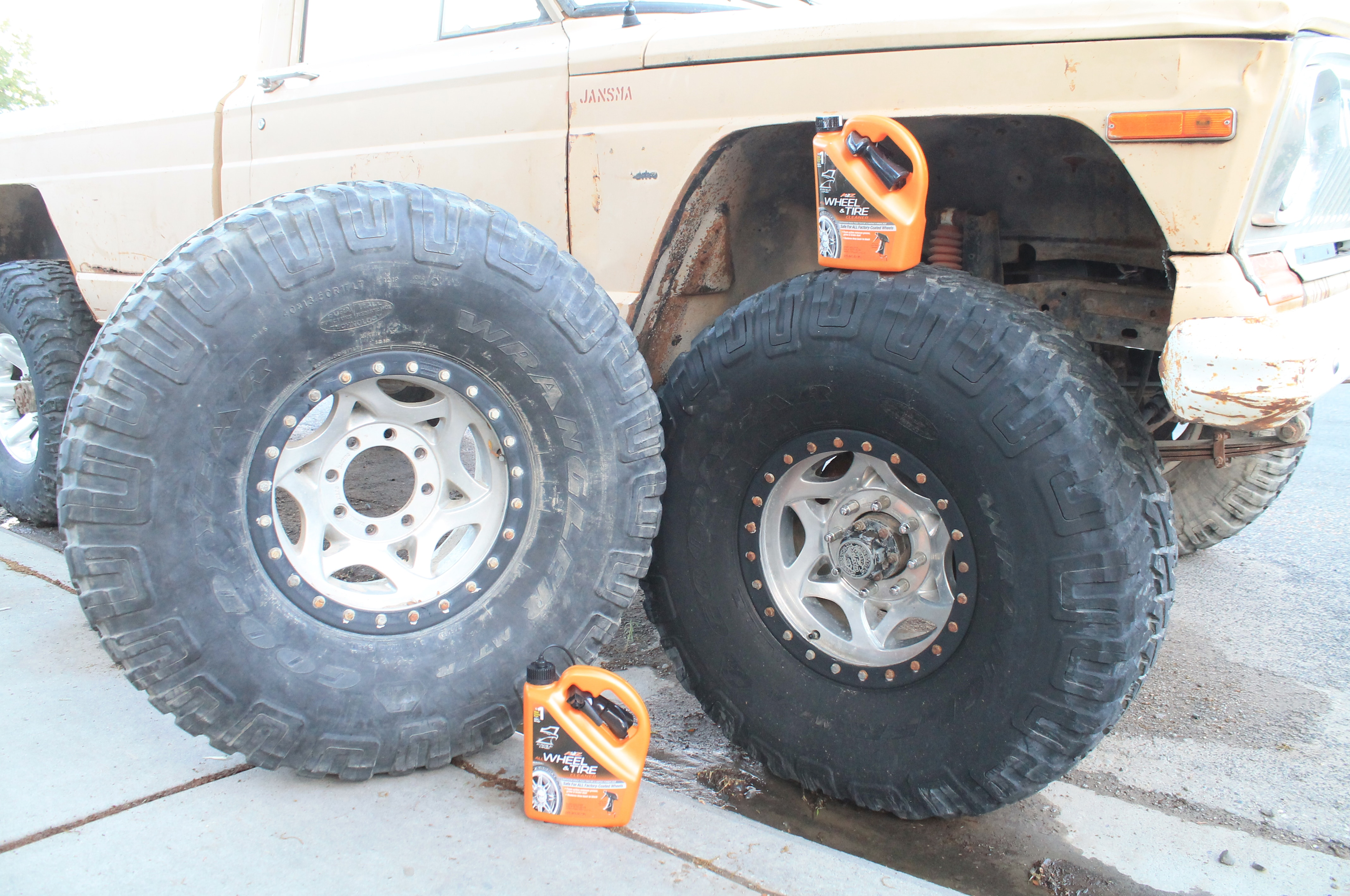 eagle one tire cleaner and jeep truck tires