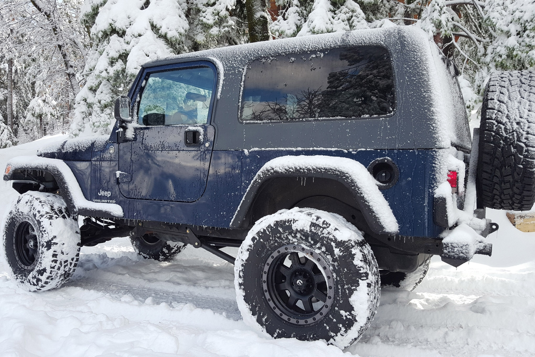 Jeep Shots 2006 Jeep Wrangler Unlimited Lj Blue Snow Photo 137583184