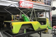 jeep wranger body painted bright yellow and avocado green