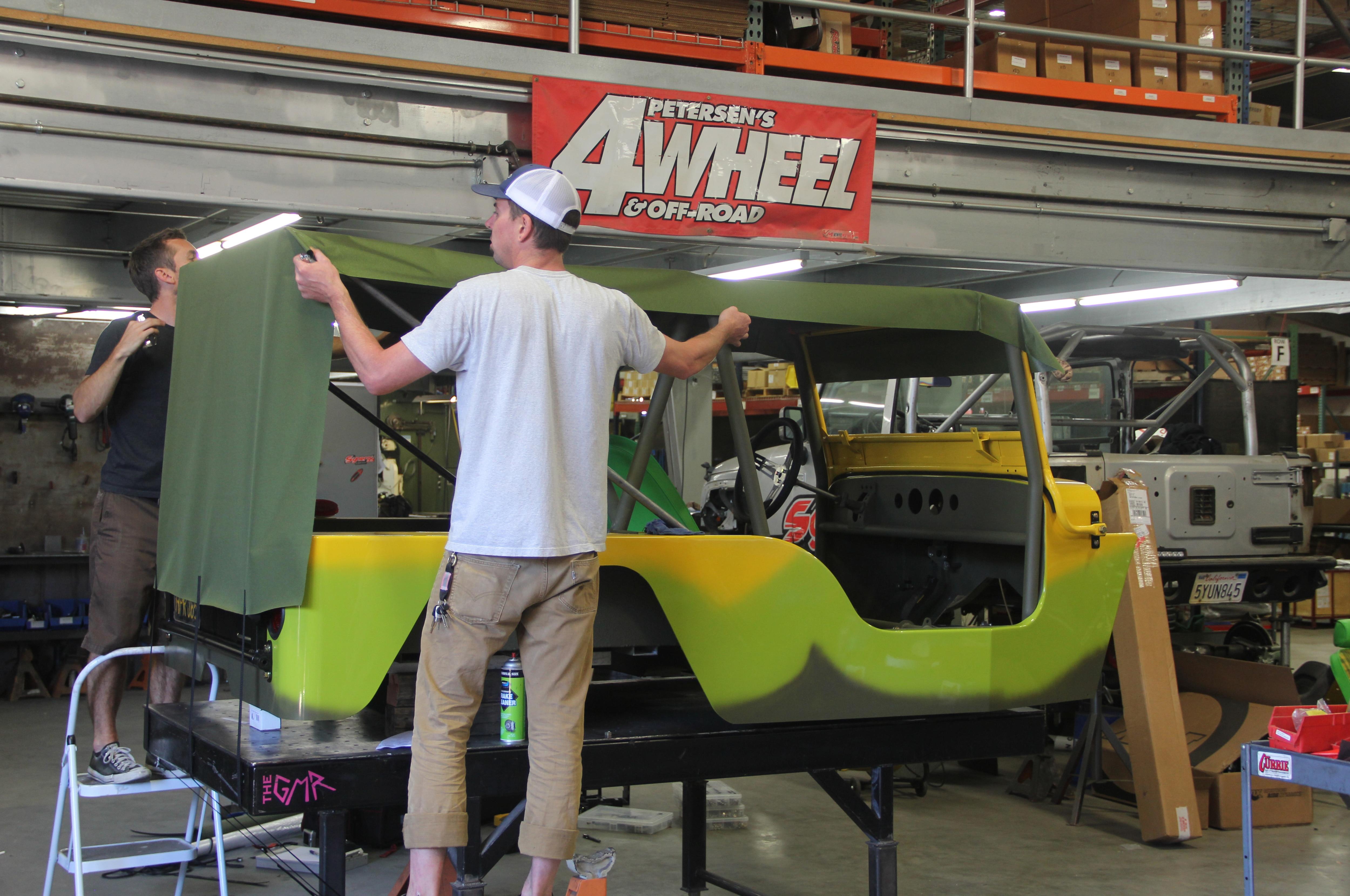 jeep wranger installing top