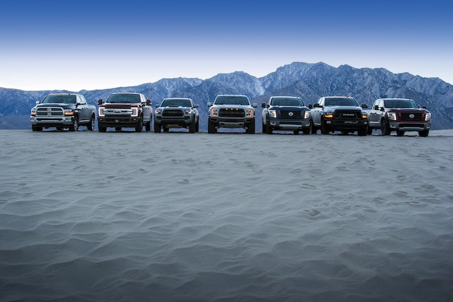 Magnificent Seven: Seven New Pickup Trucks Battle Rock, Sand, Mud, And Snow