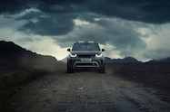 2018 land rover discovery svx concept front view 02