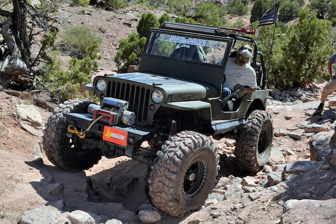 Wheeling a classic Jeep in Moab