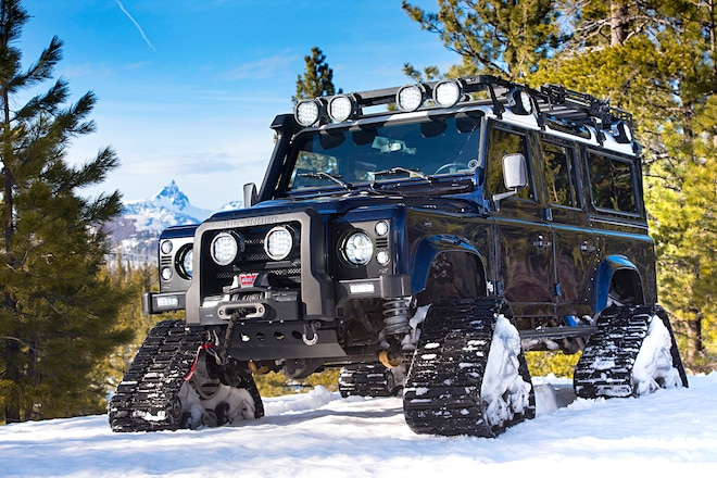 Making Tracks: A Land Rover Defender That Glides Over Snow-Covered Backroads