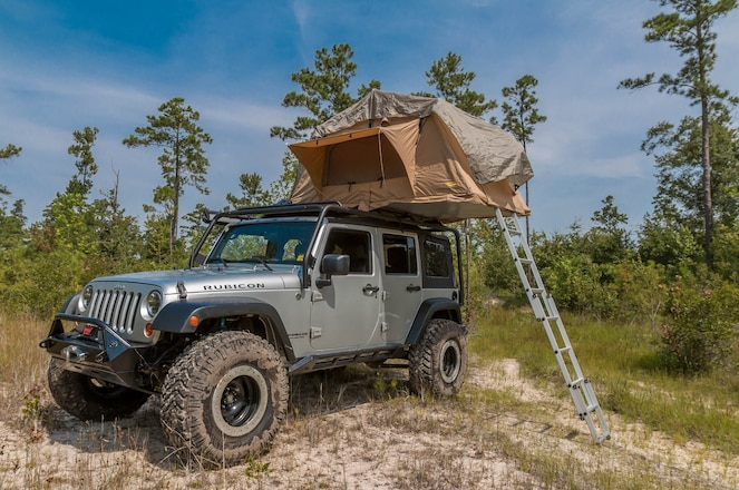 2007 Jeep Wrangler Smittybilt Roof Top Tent Review