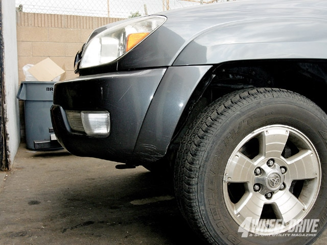 0904 4wd 02 z+2003 toyota 4runner unlimited+driverside fender