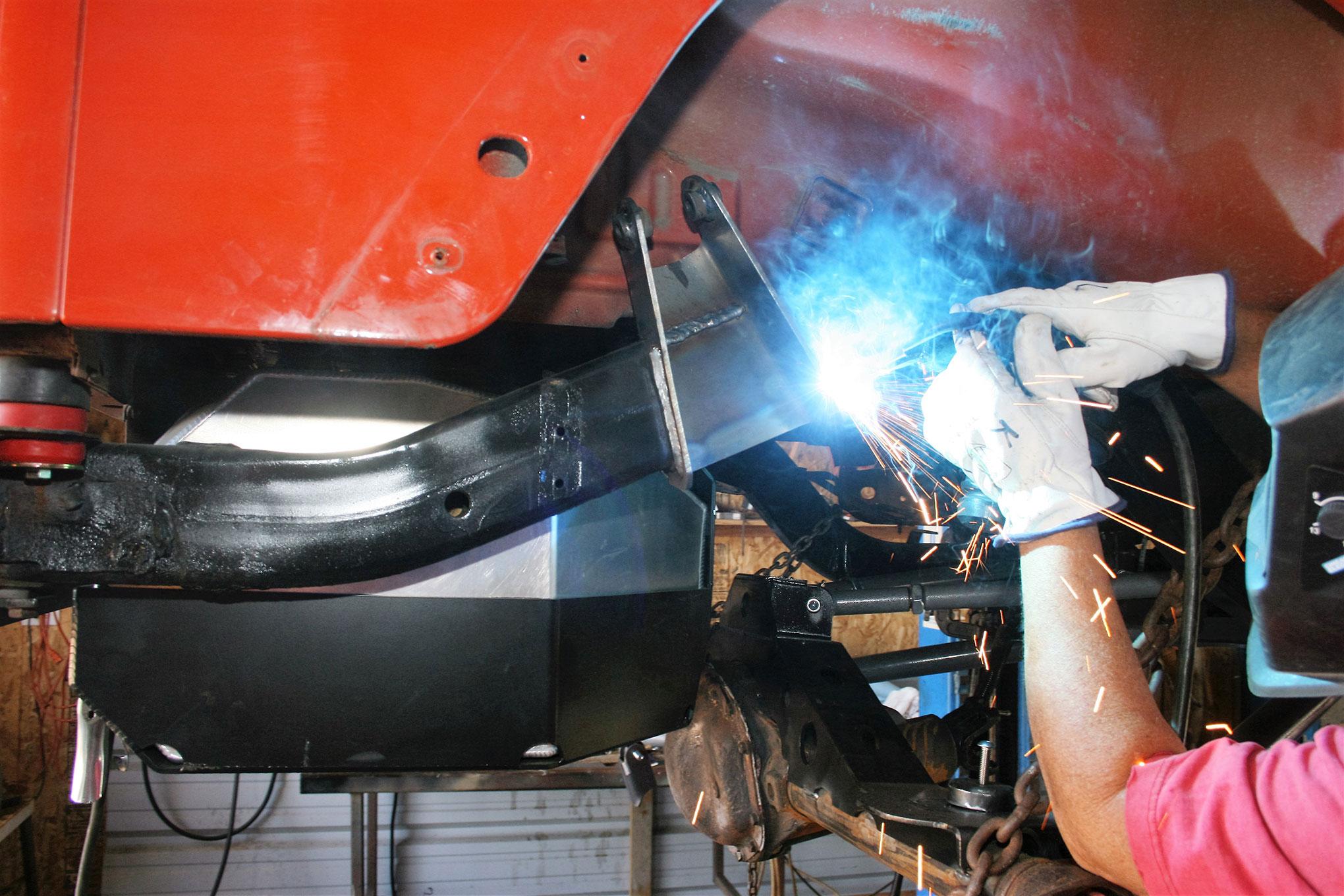 057 2005 rubicon suspension upper mount welded frame