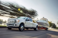 2018 ford f 450 super duty limited exterior front quarter 02 towing