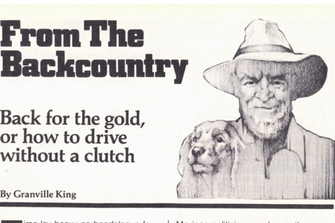 "Granville King's ""From The Back Country"" November 1984"
