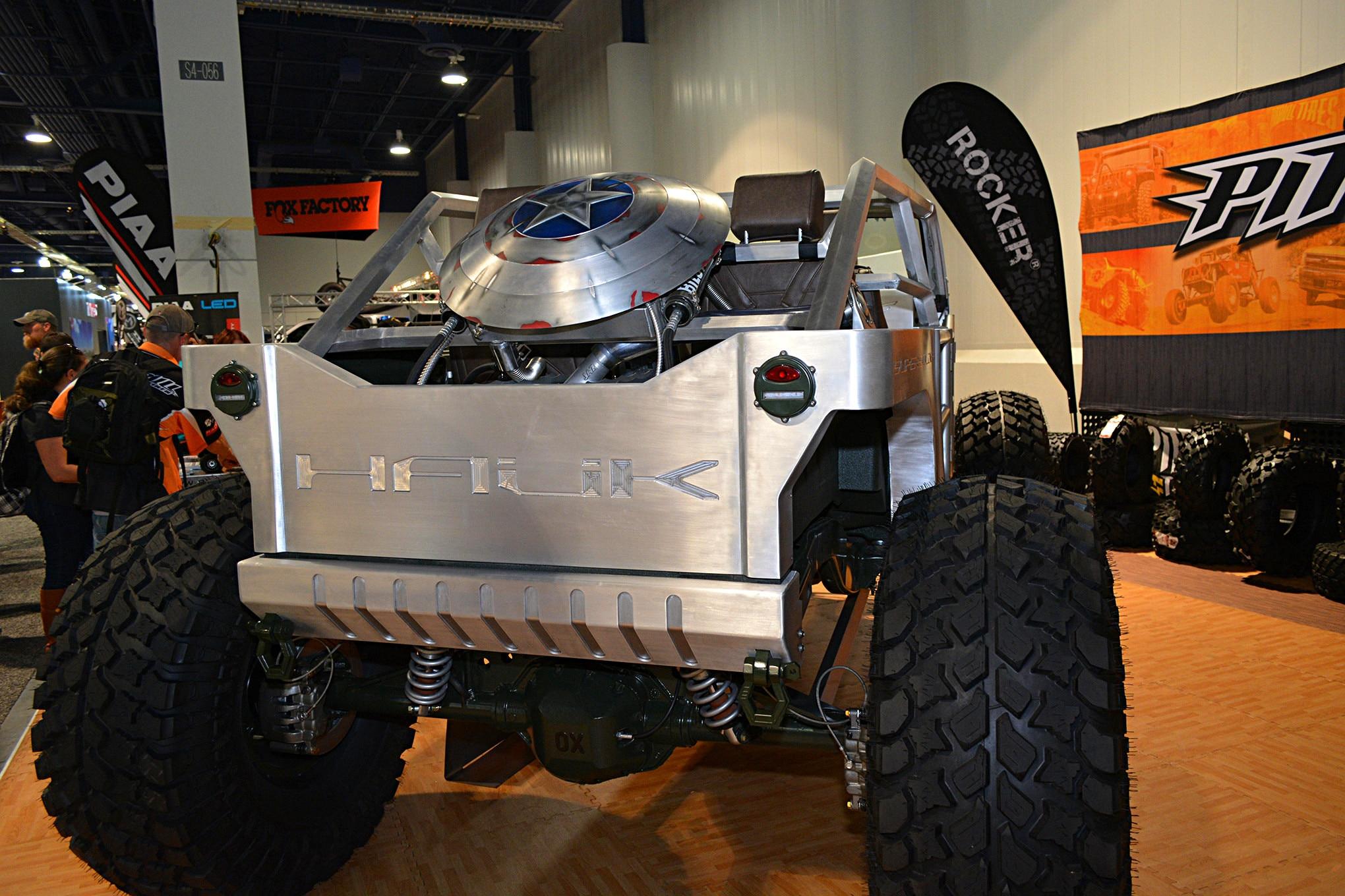 008 sema jeep mini feature hauk rear  radiator