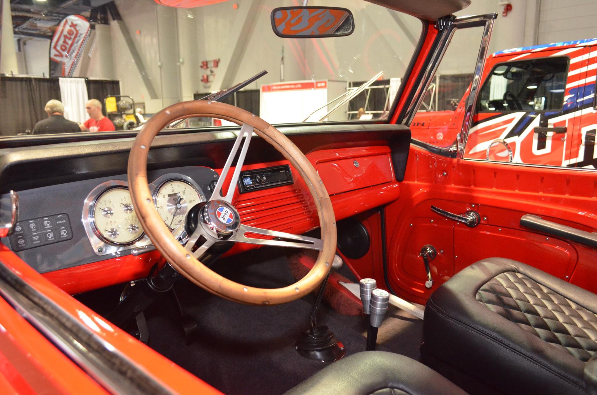 008 sema jeep mini feature jkcommando interior