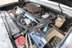 Mike says the Holley-injected 555ci big-block Chevy engine