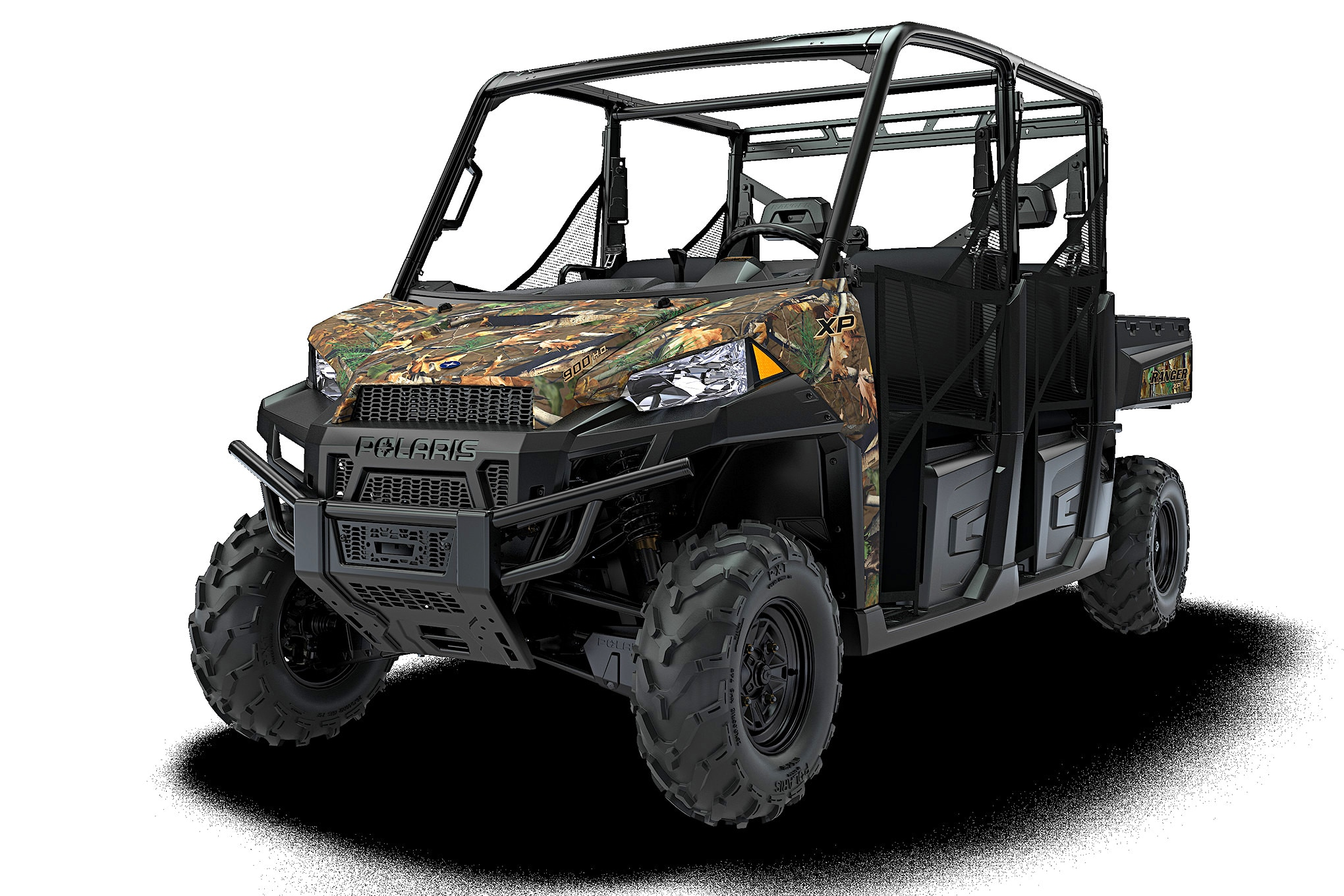 044 utv guide polaris ranger crew xp 900 front three quarter