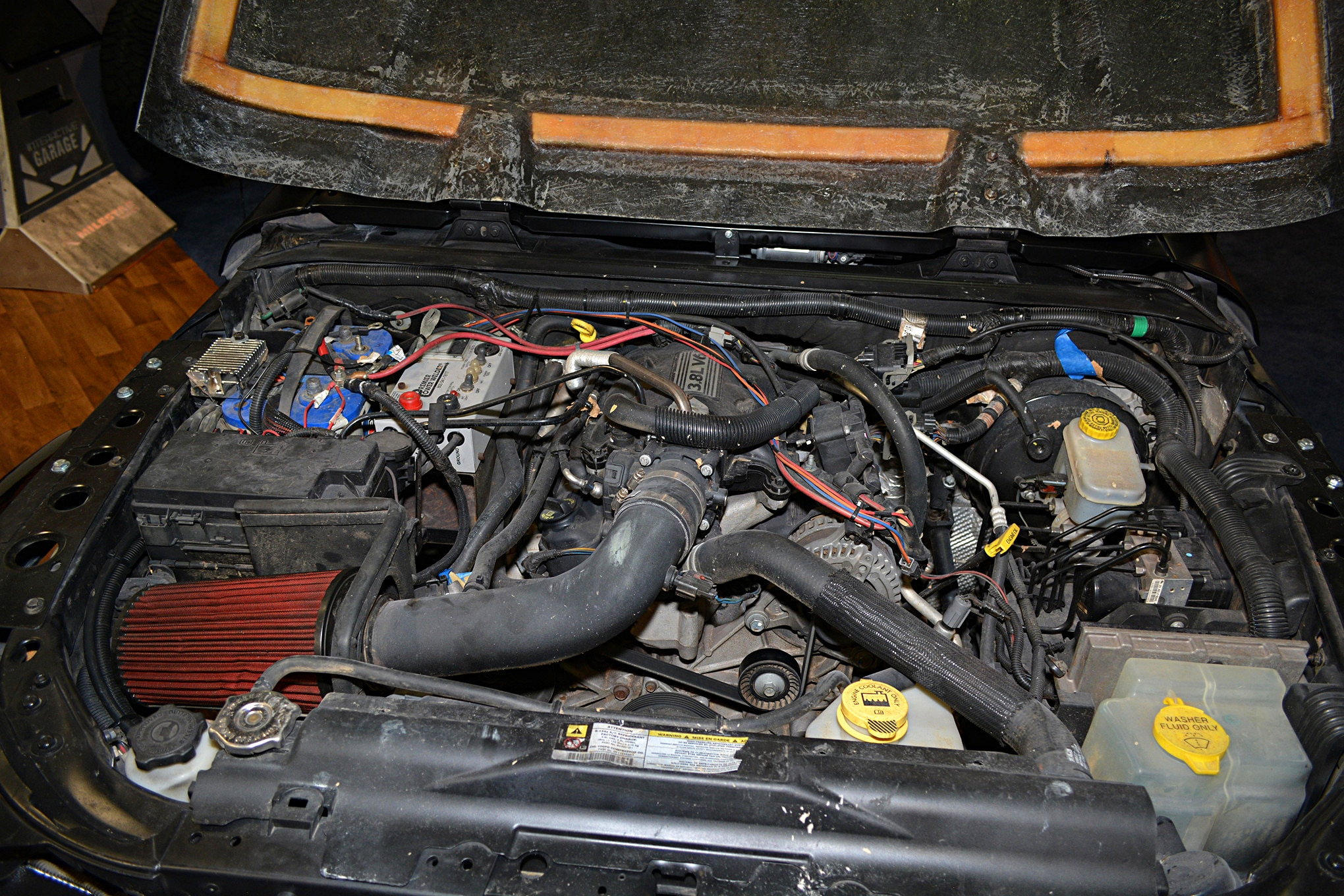 007 sema jeep mini feature retro wrangler engine.JPG