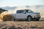 2018 Ford F 150 Lariat front side in motion
