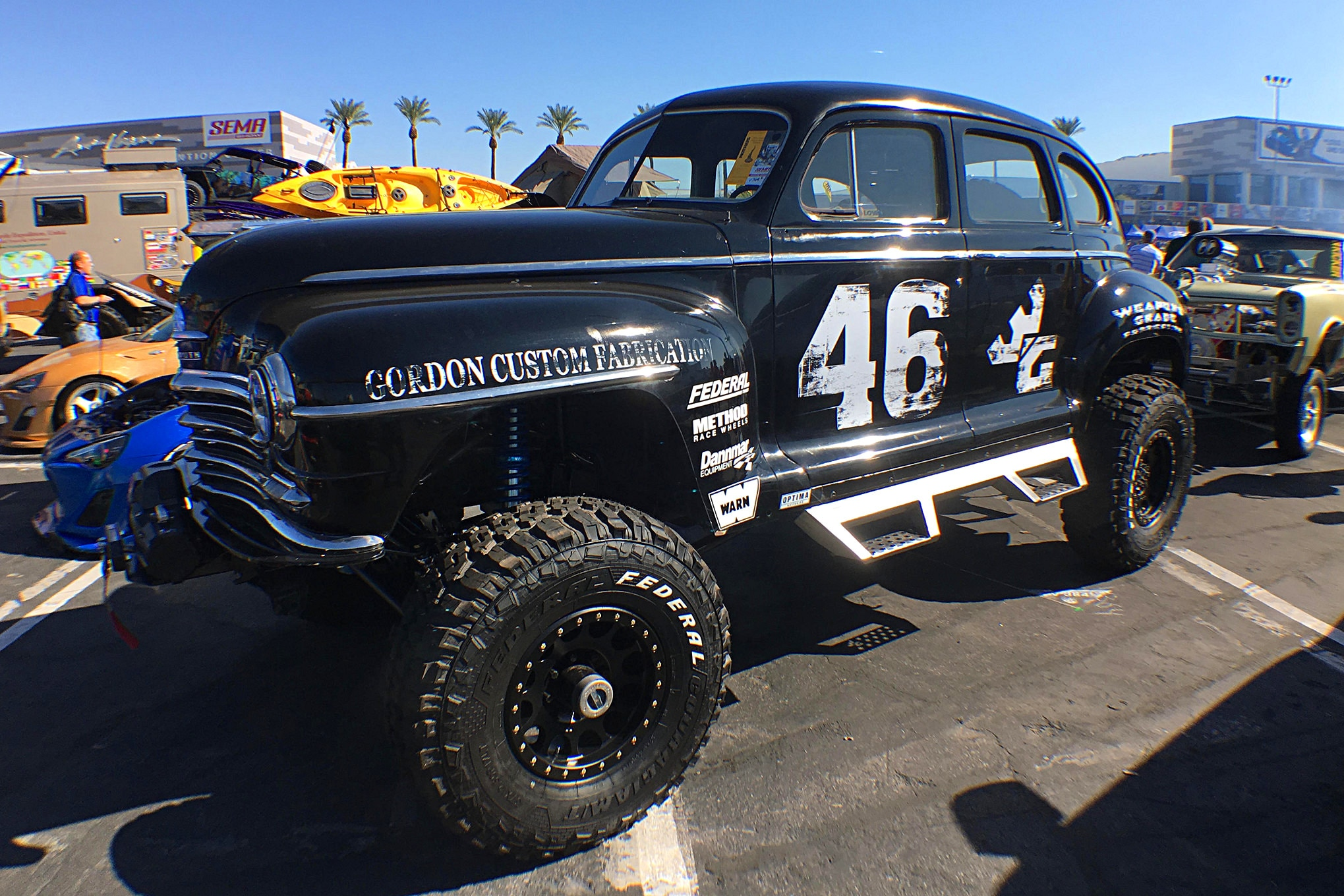 One of the more interesting off-road vehicles was this '46 Plymouth Deluxe.