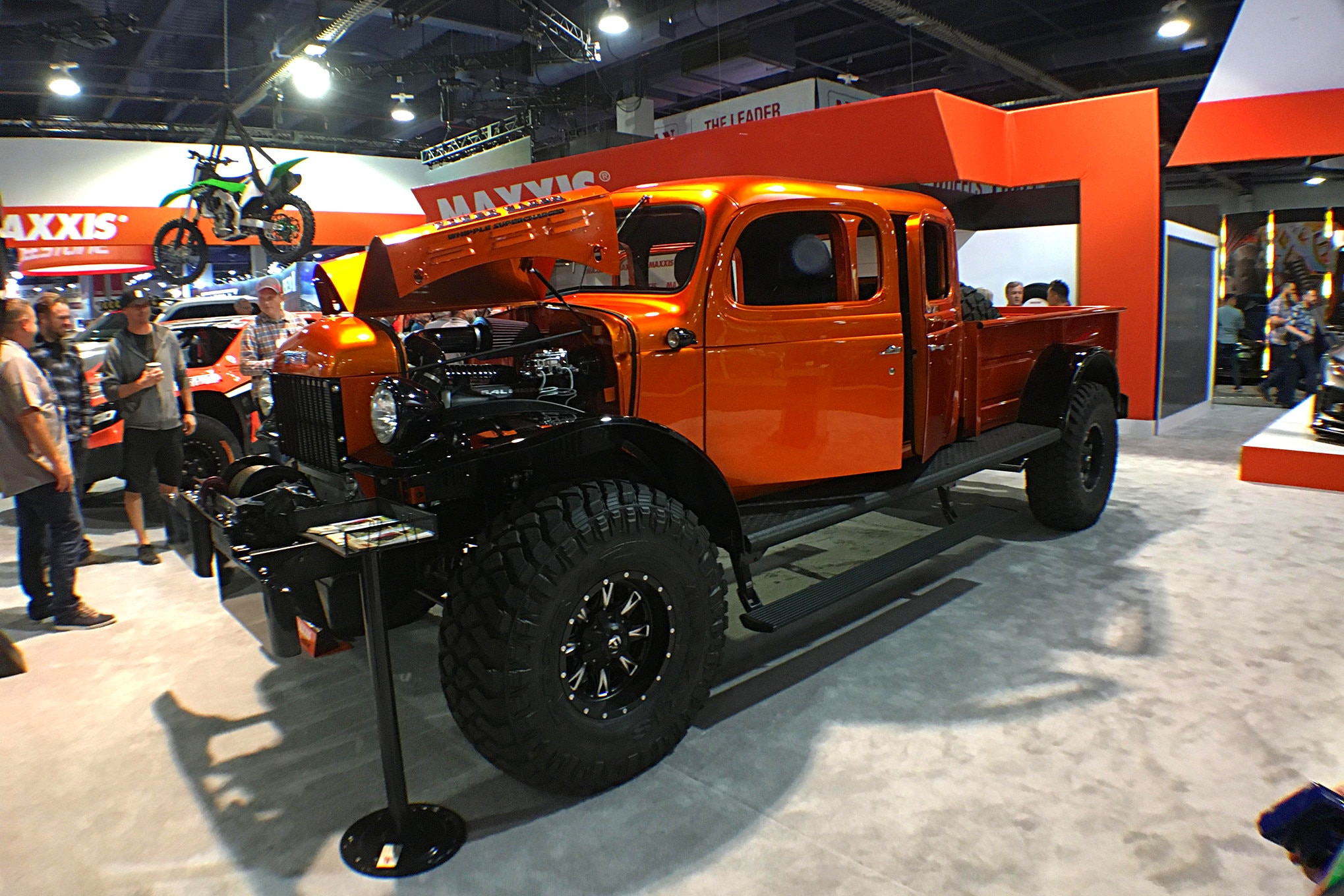This killer Dodge was the star of the Maxxis Tire booth.