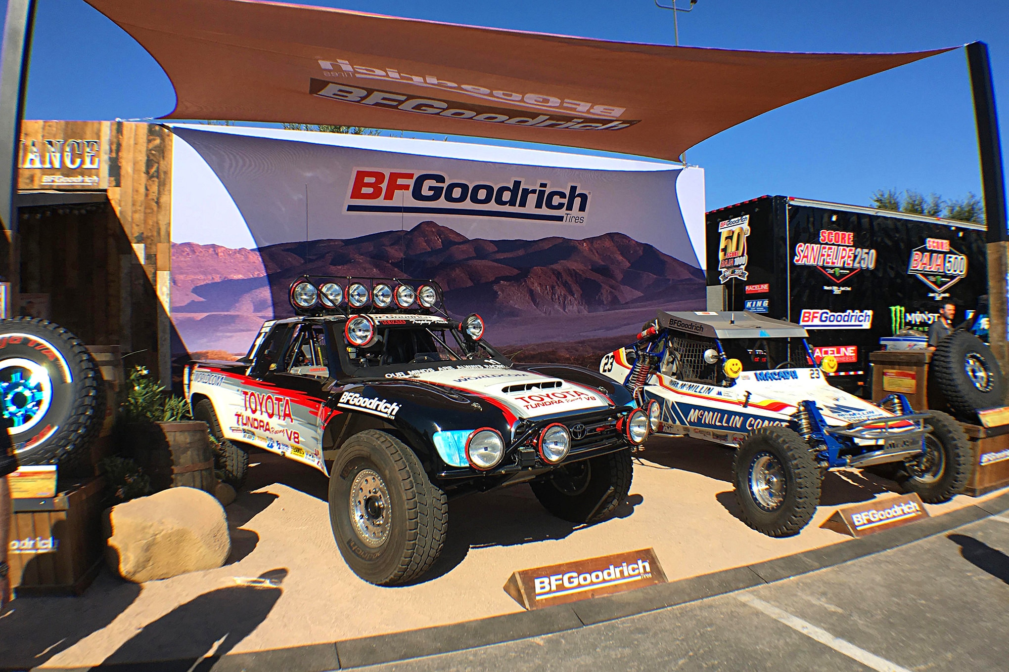The BFGoodrich display near the SCORE area had some great old race cars.