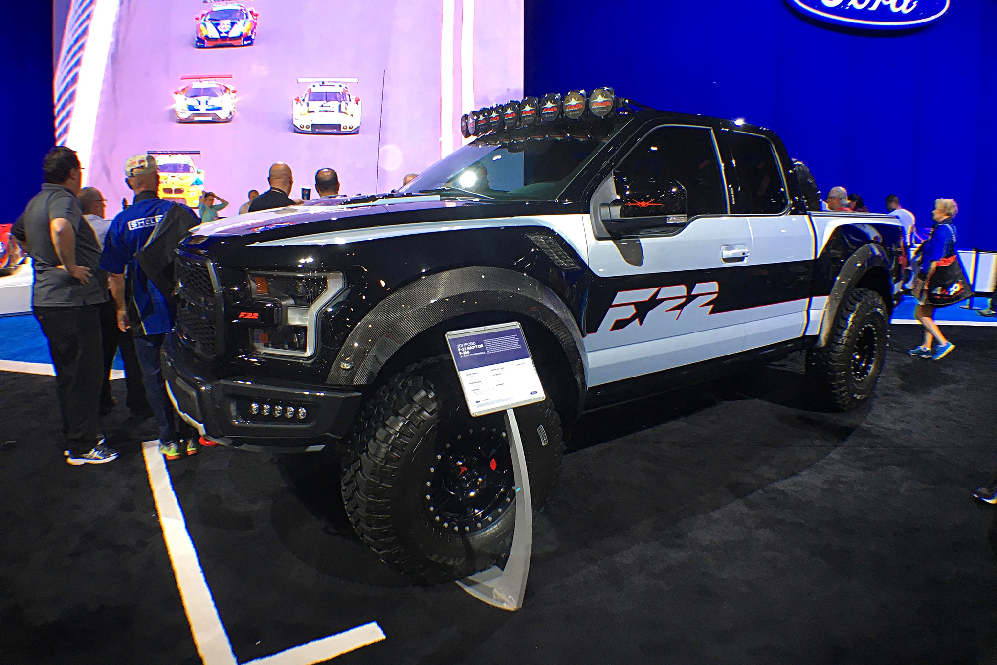 """This Ford """"F22"""" was just one of the great trucks they had in their booth."""