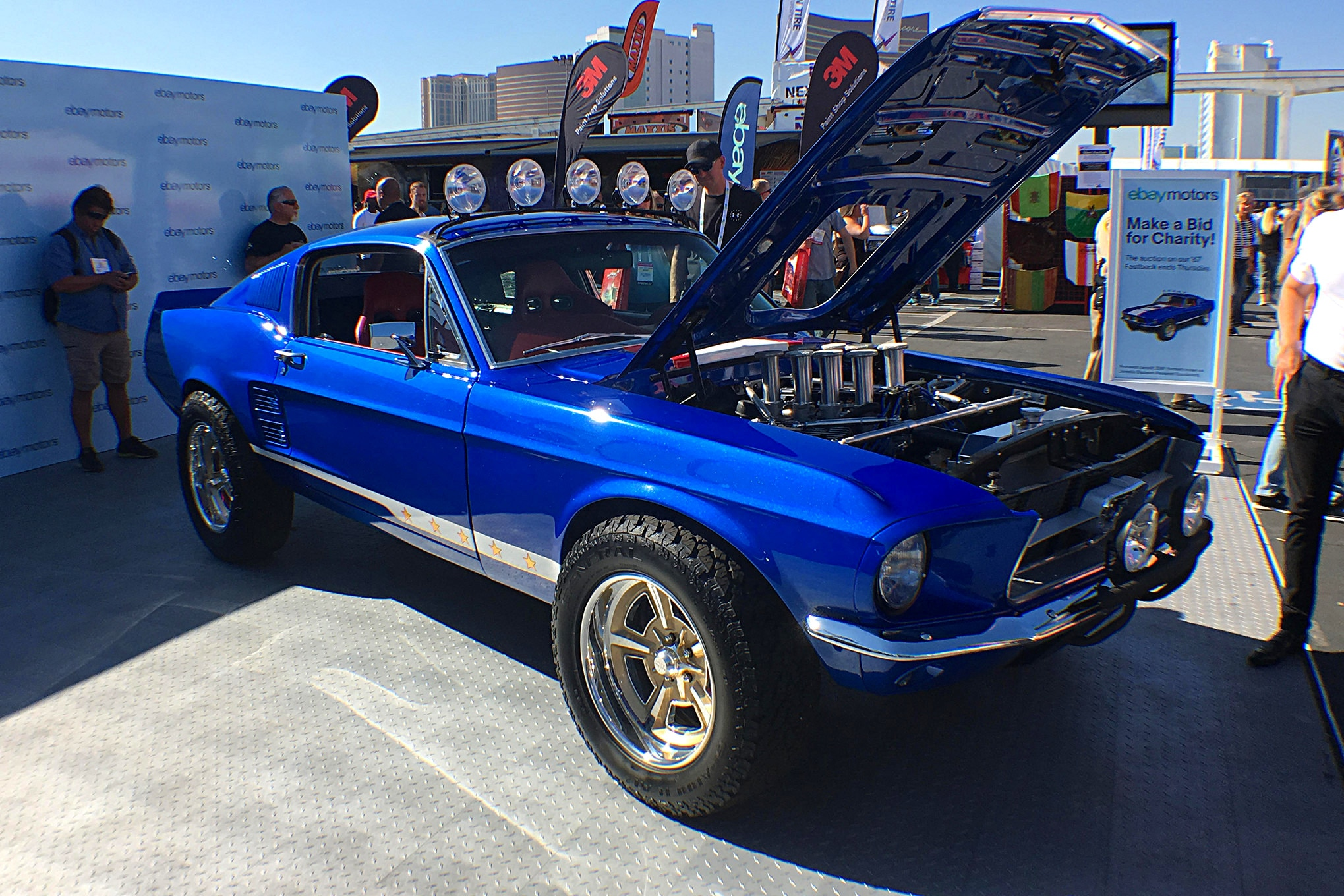 A more unusual build was this very cool off-road Mustang.