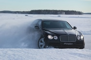 2016 bentley flying spur ice action