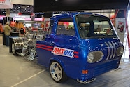 2015 SEMA Show Monday quad v8 powered ford van