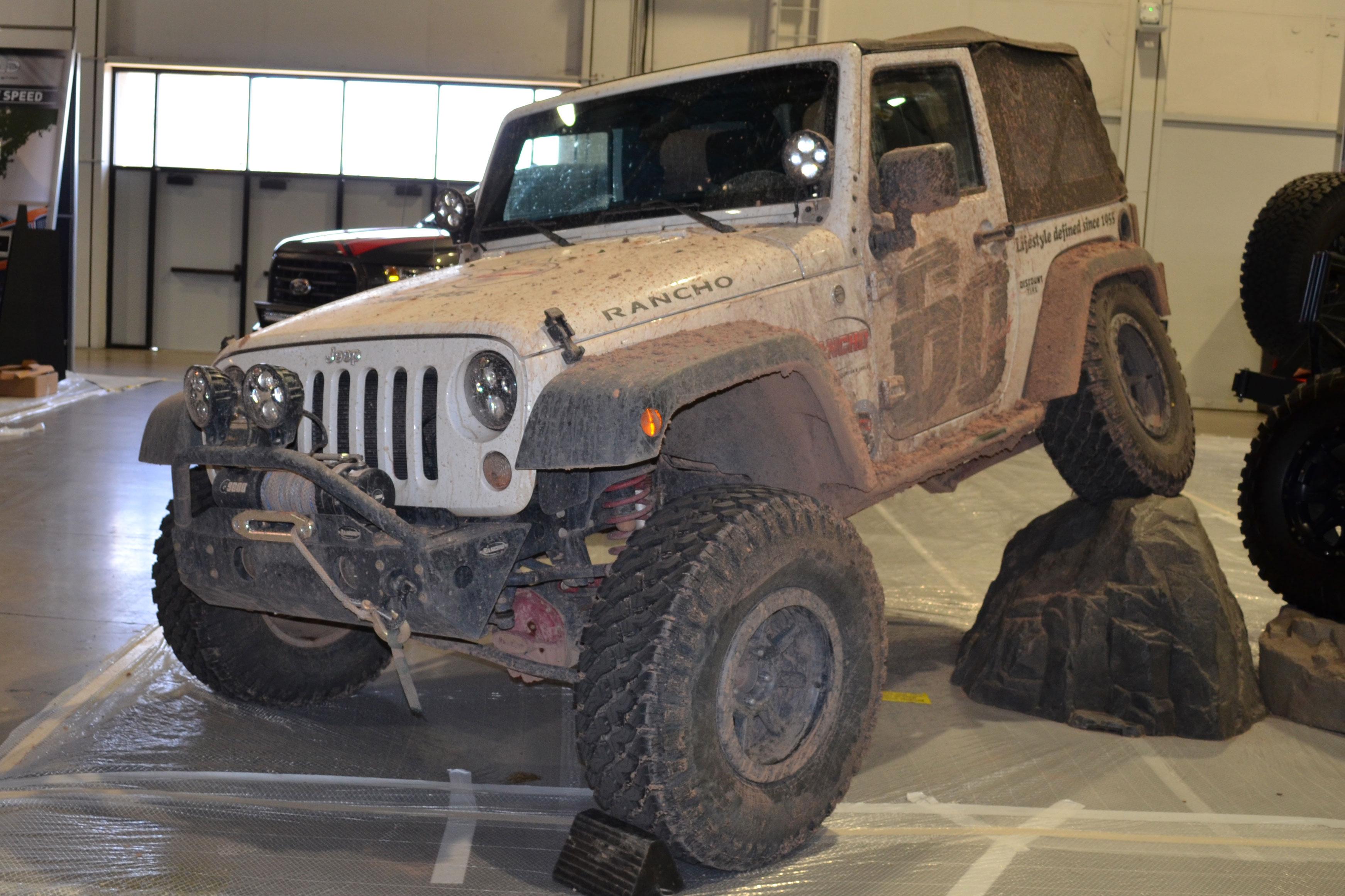 2015 SEMA Show Monday muddy jeep