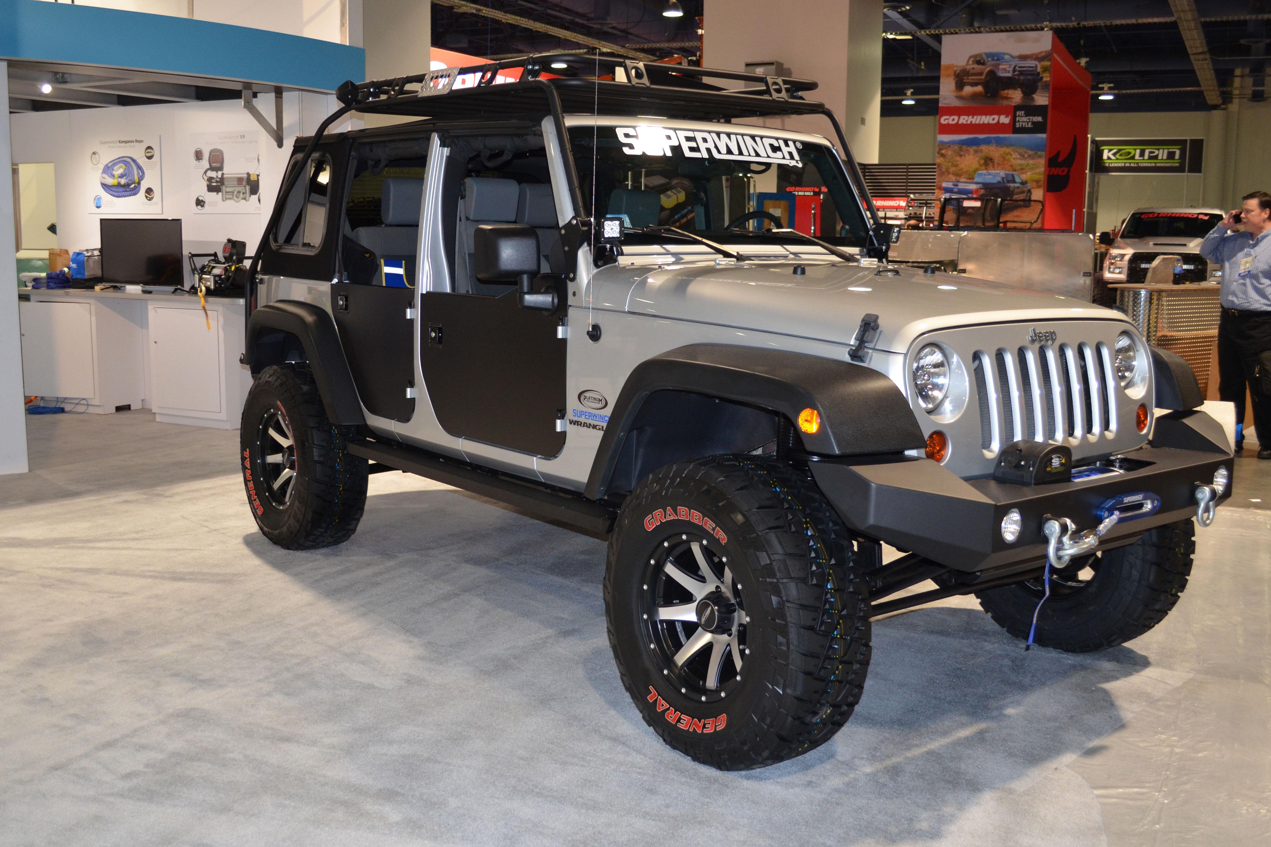 2015 SEMA Show Monday super winch jeep