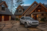 2019 Cherokee front profile at house