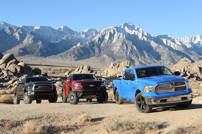 2018 Four Wheeler Pickup Truck Of The Year: Chevy vs. Ram On- And Off-Road Mega Challenge