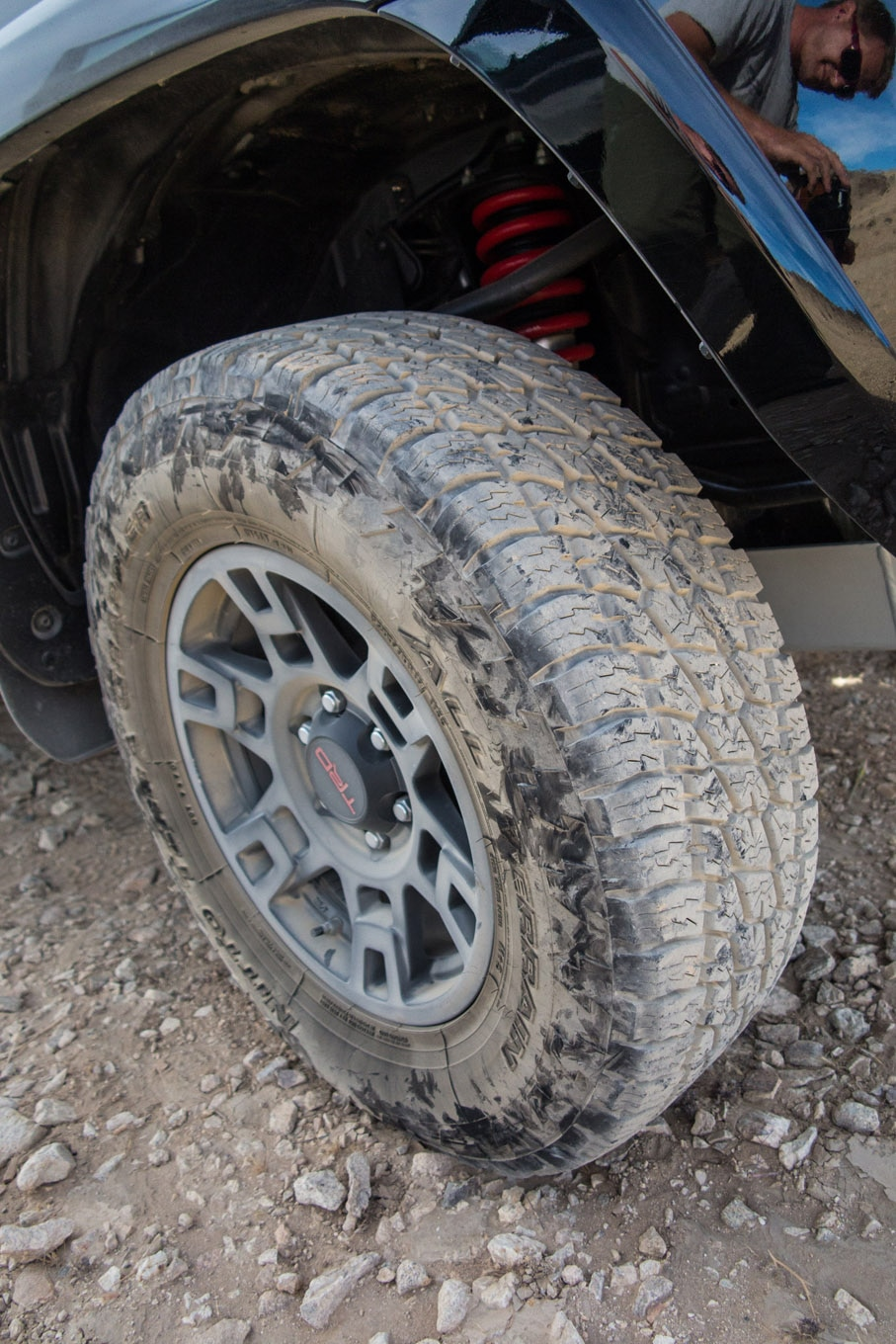 Nitto offers the Terra Grappler G2 tire in both P metric and LT offerings. In the 265/70R17 size, the LT tire has 3/32 inch more tread depth, weighs 5 pounds more, and is rated to carry 500 pounds more per corner. All in the same model tire with the same tread pattern. The tradeoff is the LT is heavier than the P metric and, as Grey Poupon connoisseurs would want to know, may offer a slight degradation in perceived ride quality over the P metric.