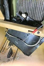 007 ford heater core plenum cover