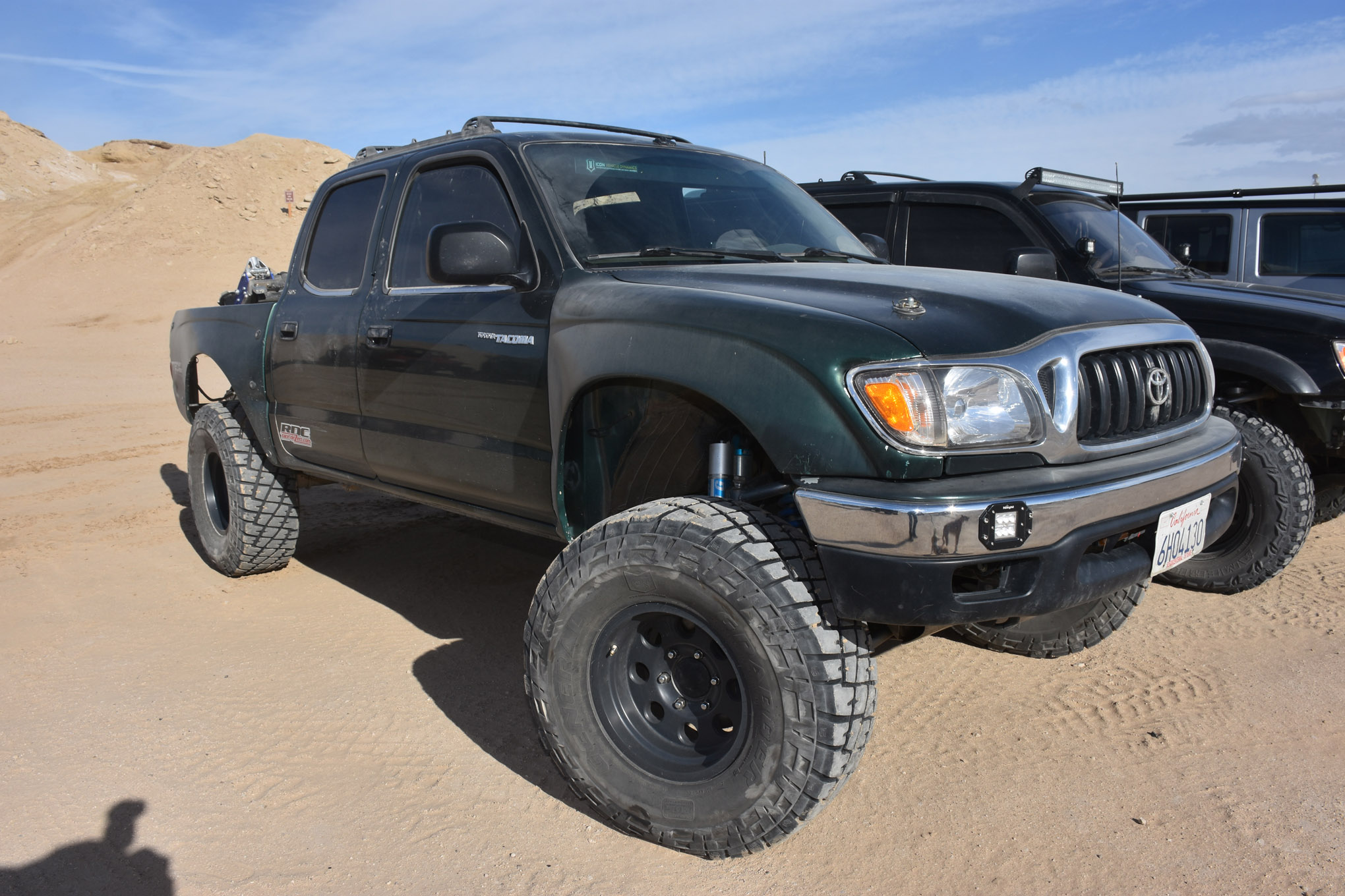 We have always liked the looks and utility of the first-gen Toyota Tacoma double-cab trucks. We saw this one near the training center and had to snap a pic. With just the right balance of go-fast goodies, 35-inch tires, and a couple of lockers, this thing could be a ton of fun just about anywhere in the desert.