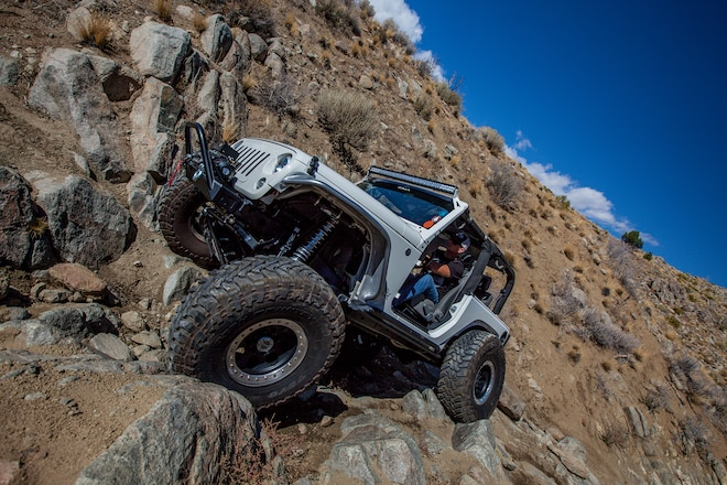 This two-door Jeep JK is no slouch
