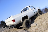 whoops square body chevy k30 stuck in mud ascending