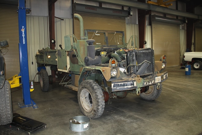Boyce Equipment Bobbed 4-Door M35A3 Under Construction