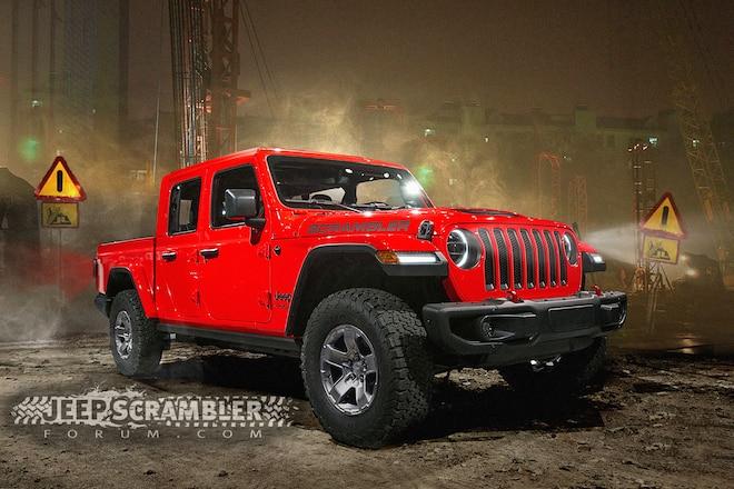Jeep Wrangler JL–Based Pickup Coming for 2020