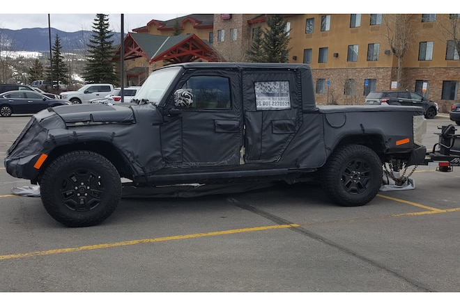 Spy Photos Jeep Truck Testing Continues